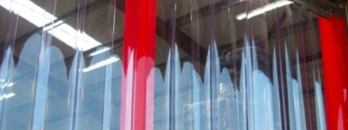 Industrial curtain strips